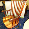 Solid Wood Traditional Hi-Back Chair.  22 x 19 x 40.  Excellent Condition.  Final Clearance.  <b>$50</b>
