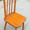 Vintage Solid Wood Child's Spindle Leg Chair.  12 x 13 x 25.  <b>$30</b>