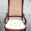 Needlepoint Upholstered Mini-Rocker.  18 x 24 x 36.  <b>$125</b>