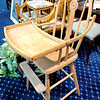 Vintage Solid Wood Hi-Chair.  18 x 19 x 42