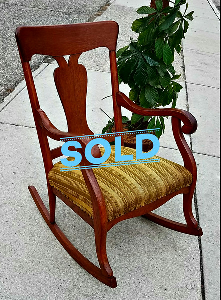 Tiger Oak Rocker