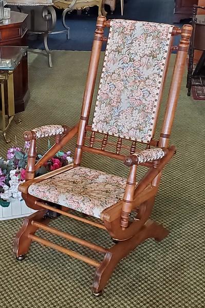 Victorian Spring Glider Rocking Chair
