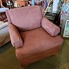 Brown Upholstered Lounge Chair