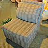 Green Stripe Accent Chair