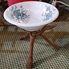 Antique Bowl and Stand