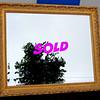 Elegant Gold-Framed Beveled Accent Mirror.  36 x 30.  <b>$125</b>