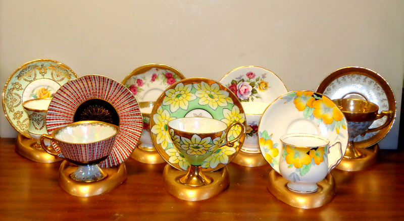 Small Selection of Norwood & Paragon Fine Bone China Tea Cup and Saucer Sets. <b> $25 to $30.  </b>