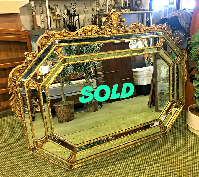 Ornate Beveled Wall Mirror