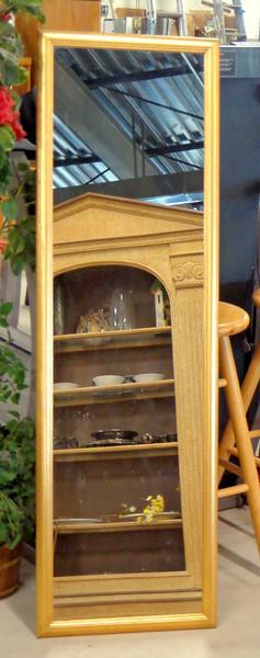 Elegant Gold Trim Tall Mirror.  18 1/2 x 60.  <b>$25</b>