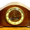 Antique Mantle Clock with Key.  16 x 6 x 9.  <b>$125</b>