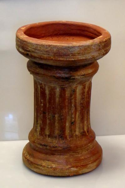 Attractive Roman Column Clay Pot Or Display Stand.  11 1/2 x 17 1/2.  <b>$40</b>