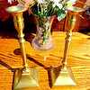 Set of 2 10-Inch Tall Brass Candlestick Holders.  <b>$25</b>