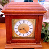 Attractive Solid Wood Desk Clock with Hidden Jewelry Drawers Inside.  12 x 7 x 15.