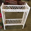 White Wicker Bookshelf Stand