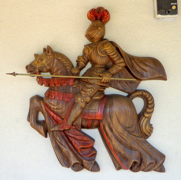 Roman Knight Gladiator on Horse in Full Regalia Wall Art.  25 x 24.  <b>$35</b>