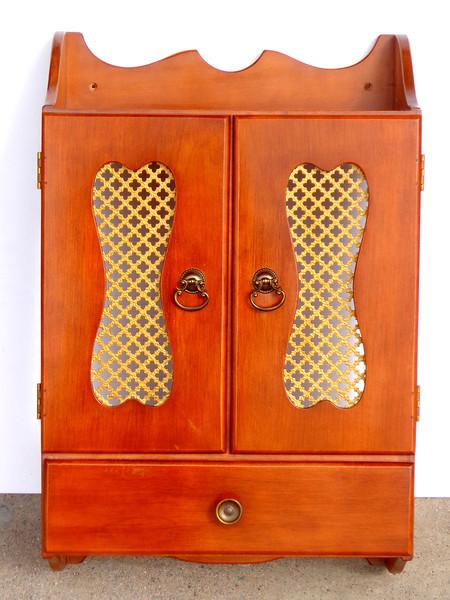 Solid Wood Wall Cabinet.  18 x 7 x 24.  <b>$65</b>