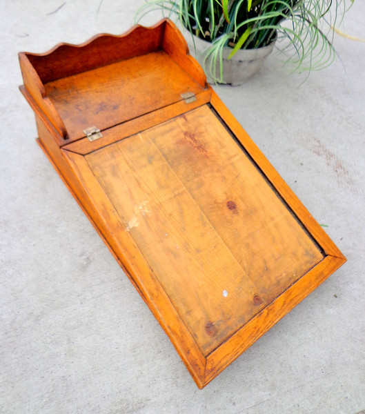 Antique Solid Wood Table Lecturn.  15 x 24 x 10.  <b>$75</b>