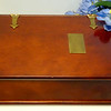 Premium Bombay Solid Wood Desktop Organizer.  Brass plate is blank and removable for engraving.  <b>$75</b>