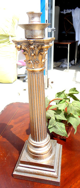 Ornate Brass Candle Holder.  <b>$40</b>