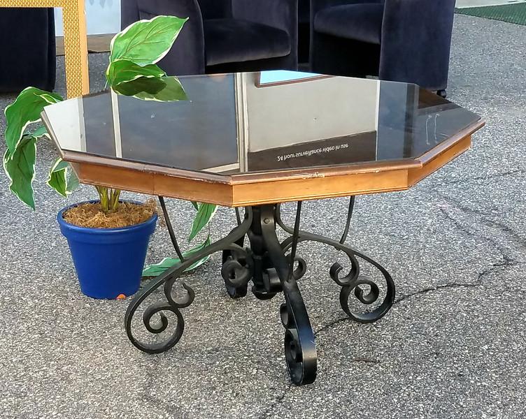 Wrought Iron Foyer Table