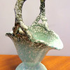 Antique Hull Royal Woodland Basket Vase in Excellent Condition.  6 x 4 x 9 1/2.  <b>$35</b>