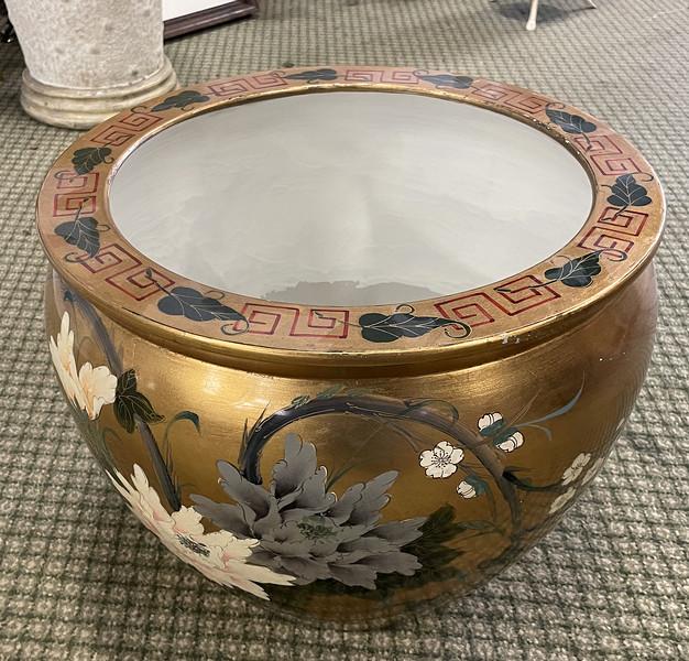 Golden Chinese Vase