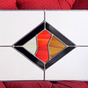 Unique Stained Glass Window in Excellent Condition.  29 x 15. <b></b>
