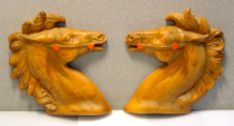 Set of 2 Ceramic Wall Mounted Horse Heads.  15 x 17.  <b>$60</b>