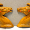 Set of 2 Ceramic Wall Mounted Horse Heads.  15 x 17.  <b>$60</b>