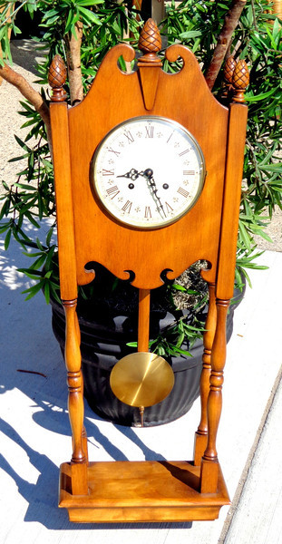 Solid Wood Vintage Trend of Zeeland, MI Wall Clock.  13 x 7 x 31.  <b>$150</b>