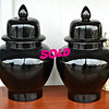 Black Décor Urns