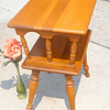 Attractive Maple Double Deck End Table.  13 x 19 1/2 x 23.  <b></b>
