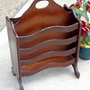 Vintage Solid Wood Magazine Rack.  14 x 9 x 21.  <b>$50</b>
