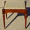 Vintage Needlepoint Solid Wood Vanity Seat.  18 1/2 x 16 1/2 x 19.  <b>$65</b>