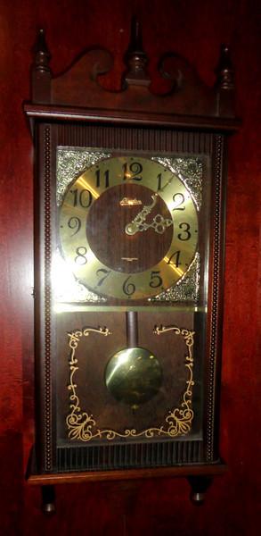 Linden Wall Clock.   11 x 5 x 26