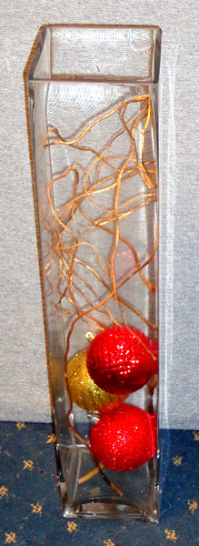 Holiday Glass Room Accent.  5 x 5 x 24.  <b>$30</b>