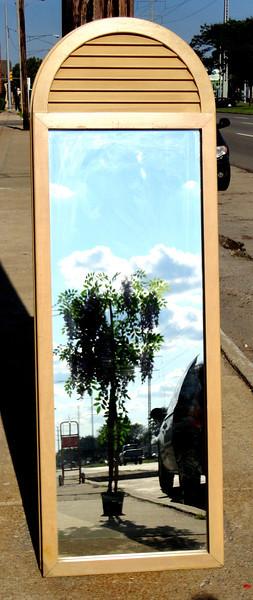 Versatile And Attractive Wood Trim Mirrors.  24 x 1 x 73.  <b>$50</b>
