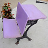 Hard-to-Find Antique Silent Giant Cast Iron & Wood Student Desk.  19 x 28 x 27.  <b>$125</b>
