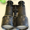 Antique Binoculars with Black Leather Trim.  These binoculars appear to be Marchand Fabt Paris Day & Night Binocular also used by the U.S. Signal Service.  5 x 3 x 6.  <b>$85</B>