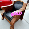 Majestic Rare Antique Tiger Oak Imperial Chair.   It doesn't happen often often, but occasionally we receive a chair that has that unique majestic style that is immediately compelling and dramatic.  This is one of those times.  Just take a look at this impressive Tiger oak chair.  It's one-of-a-kind.  Needs re-upholstery, but any effort will be rewarded many times over.  33 x 32 x 36.  <b>$395</b>