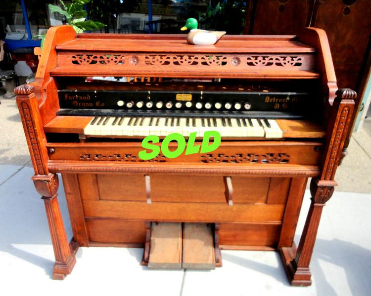 Antique Farrand Pump Organ.  50 x 26 x 47.  <b>$350</b>
