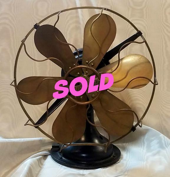 Antique Brass Electric Fan