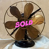 Antique Brass Electric Fan