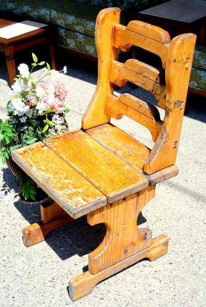 Antique Unique All Solid Wood Chair.  19 x 19 x 37.  <b>$95</b>
