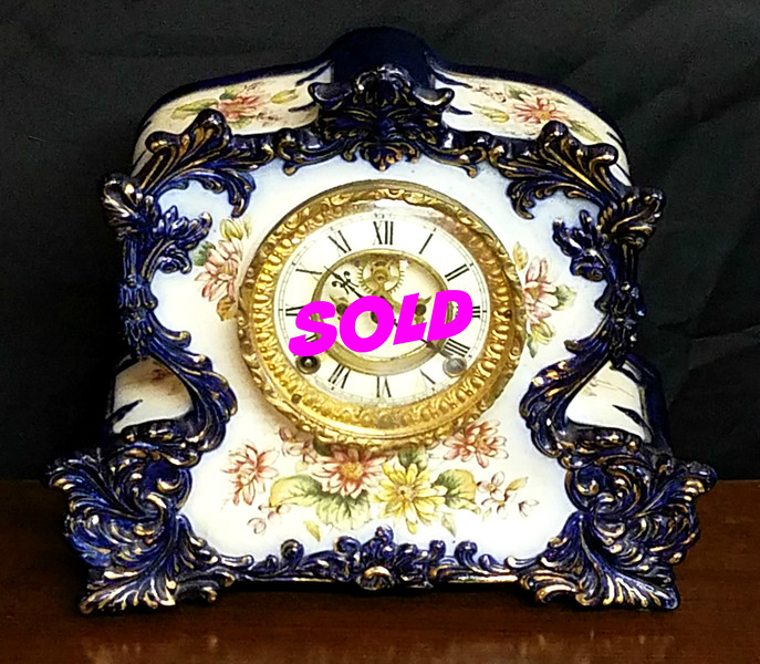 1800s Antique Porcelain Clock