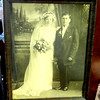 Happily Ever After Antique Framed Wedding Day Photograph.  Perfect for a novelty setting or haunted house.  Just take a look at the guy's facial expression.  16 x 20.  <b>$25</b>