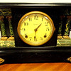 Ingraham Antique Mantle Clock with Key. Approximate Age: 1910 - 1916.  17 x 7 x 11.  <b>$175</b>