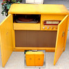 Olympic Model 505 Console Stereo & Phonograph in Oak Cabinet.  35 x 17 x 26.  <b>$125</b>
