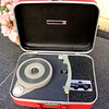 Vintage Magnavox Solid State Portable Record Player.  17 x 12 x 5 1/2 (in closed position).  <b>$50</b>