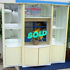 Contemporary White Display Armoire